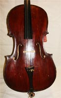 Carved Cello - top